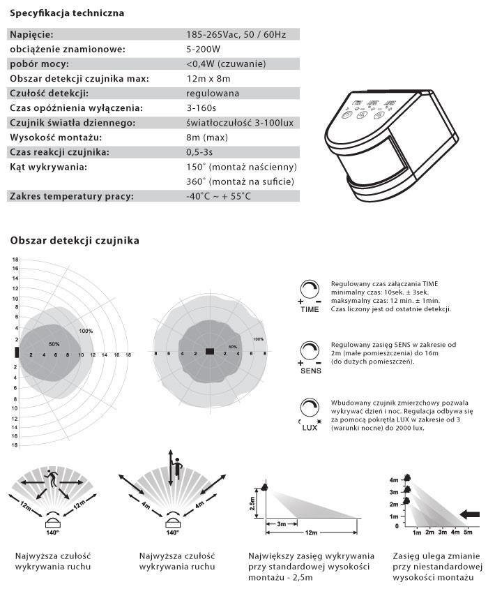 mikrofalowy czujnik ruchu